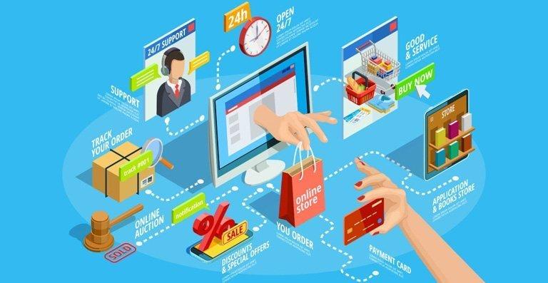 مميزات تحصل عليها عند إنشاء موقع تجارة إلكترونية