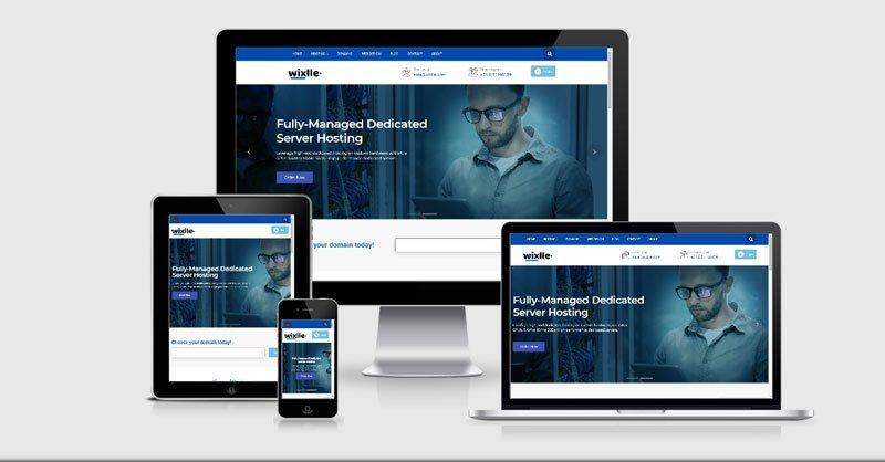 تصميم موقع شركة Wixlle لاستضافة المواقع