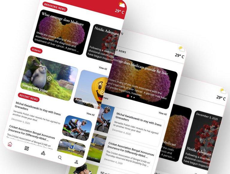 تصميم تطبيق إخباري يعمل على اندرويد وايفون