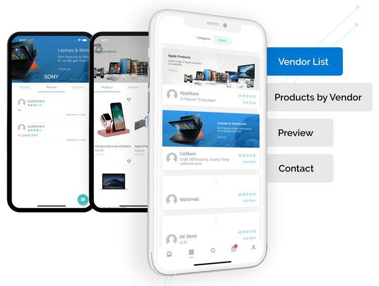 تصميم تطبيق متجر إلكتروني متعدد التجار
